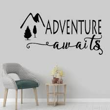 Adventure Awaits Wall Decal Stickers Bedroom Quotes Travel Theme Wall Decor Wanderlust Wall Decal Living Room Wallpaper Buy At The Price Of 4 69 In Aliexpress Com Imall Com
