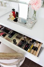 how to organize your makeup table