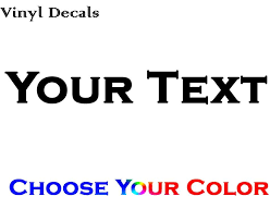 Custom Personalized Text Decal Make Your Own Text Vinyl Decal Sticke Www Knlgiftshop Com