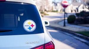 How To Make A Super Bowl Themed Car Decal With Adhesive Vinyl Kayla Makes