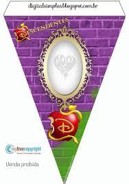 Kit Festa Descendentes Disney Para Imprimir Gratuito Convites