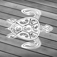 Turtle Decal Turtle Sticker Turtle Car Decal Turtle Wall Decal Turtle Laptop Tribal Turtle Hawaiian Turtle Hawaii Turt Hawaiian Tattoo Tribal Turtle Turtle Art