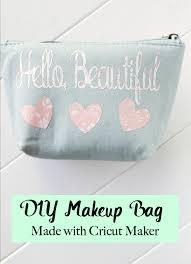 diy makeup bag made with cricut maker