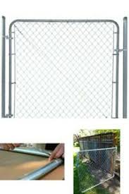 Chain Link Fence Gate 6 Ft X 4 Ft Galvanized Metal Adjustable Rust Resistant 705353970153 Ebay