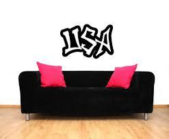 Ivy Bronx Dellwood Usa Graffiti Wall Decal Wayfair