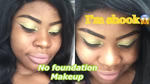 minty green eye makeup