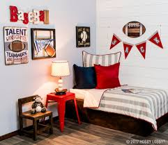Create An All Star Space For Your Littlest Sports Fan Football Bedroom Decor Football Bedroom Bedroom Decor