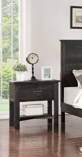 Madison Charcoal Or Natural Wood Rustic Kids Bedroom Nightstand Table Pilaster Designs