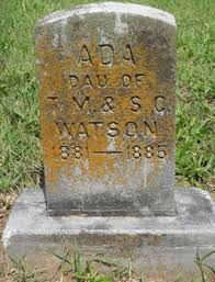 Ada Watson (1881-1885) - Find A Grave Memorial