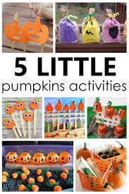 5 Little Pumpkins Activities Fantastic Fun Learning