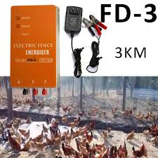 3km Electric Fence Energizer Charger Fd 3 High Voltage Pulse Controller Animal Poultry Farm Electric Fencing Chicken Dog Fence Cages Accessories Aliexpress