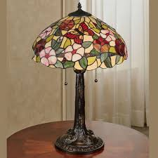 erfly fl stained glass table lamp