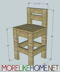 build a chunky bar stool