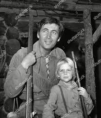 Fess Parker poses his TV son Darby Editorial Stock Photo - Stock Image |  Shutterstock