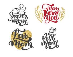 happy mothers day set hand drawn lettering quotes vector t shirt