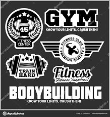 satz von sport und fitness logo gym