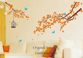 Nursery Wall Decal Tree Branch Wall Decals Birds Vinyl Wall Etsy