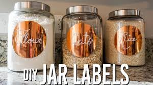 diy pantry jar labels you