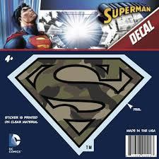Gaggifts Com Superman Logo Car Decal Camo 1