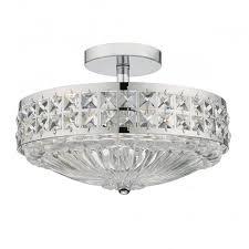 a traditional semi flush ceiling light