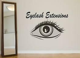 Eyelashes Wall Decal Eyelashes Wall Sticker Eye Lashes Eyebrows Wall Decor Se1 Ebay