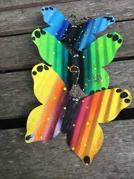 Set Of 3 Metal Butterflies Fence Art Hanging Fence Wall Decor Yard Art Indoor Or Outdoor Fence Butterfly Privacy Fence Patio Metal Art