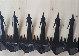 Steel Wall Security Spikes Anti Climb Razor Spikes For Top Of Fence