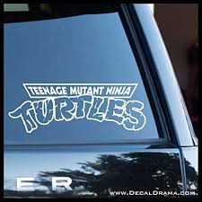 Amazon Com Teenage Mutant Ninja Turtles Logo Small Vinyl Decal Handmade