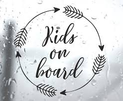 Kids On Board Baby Child Window Bumper Car Sign Decal Sticker Etsy