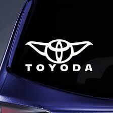Amazon Com Bargain Max Decals Toyoda Yoda Sticker Decal Notebook Car Laptop 8 White Automotive
