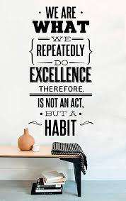 Amazon Com Quote Vinyl Wall Decal We Are What We Repeatedly Do Office Quote Teamwork Sign Motivational Decor Inspirational Lettering Business Quotes Office Vinyl Decor Sticker Mural Art Print Home