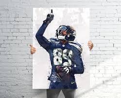 Doug Baldwin Seattle Seahawks Poster Canvas Banner Football Etsy
