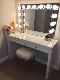 vanity mirror with desk lights diy