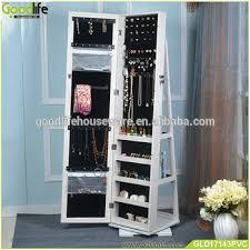 floor stand cosmetic shelf floor mirror