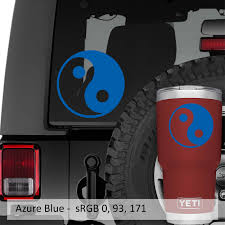 Yin Yang Chinese Symbol Vinyl Decal Jeep Window Decal