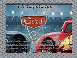 Kit Imprimible Cars 3 Invitaciones Tarjetas Y Mas 2x1 150 00