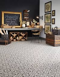 luxury vinyl tile sheet floor art deco