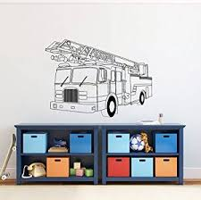 Buy Wall Decals Fire Truck Rescuers Kids Boys Room Nursery Wall Vinyl Decal Stickers Bedroom Murals In Cheap Price On M Alibaba Com