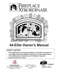fireplacextrordinair 44 elite user s