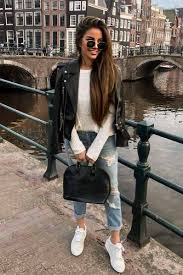 12 cute leather jacket outfits for the