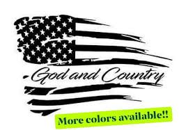 American Flag Car Decal Sticker Graphics God And Country Etsy