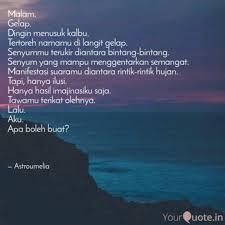 malam gelap dingin me quotes writings by melia sari