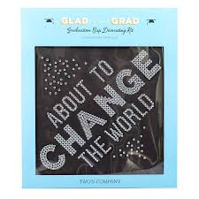 Two S Company Rhinestone Adhesive Applique About To Change The World Graduation Cap Decorating Kit Walmart Com Walmart Com