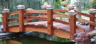 redwood garden bridges custom garden