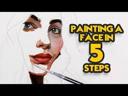 painting a face in 5 steps you