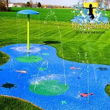 backyard splash pad