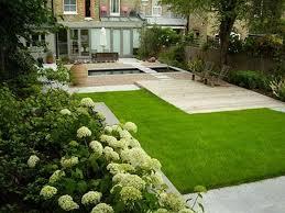 grass small yard patio simple backyard