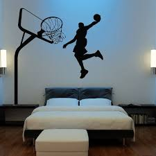 Huge Basketball Wall Decal Decor Art Stickers By Happywallz 149 99 Basketball Room Basketball Themed Bedroom Basketball Wall