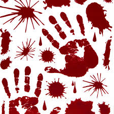 Red Bloody Hand Print Window Splatter Decal Wall Halloween Sticker Decoration 2 Pk 46 Pieces Perfect For A Haunted House Halloween Party Favors By Tytroy Walmart Com Walmart Com