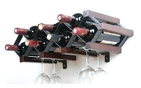 attractive wine glass rack shelf wooden